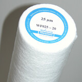 Replacement of filter cartridge: Stick the label with the added replacement date to the housing